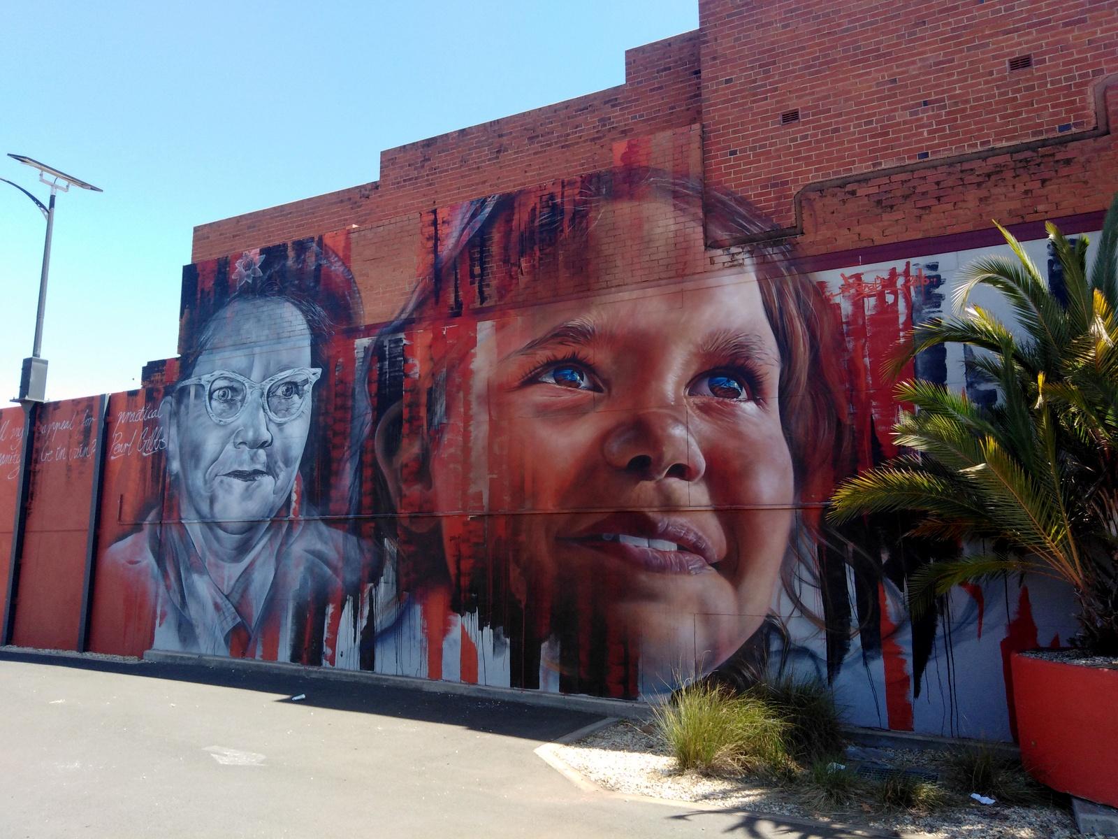 Pearl Gibbs mural Dubbo