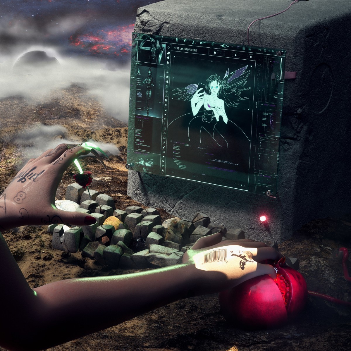 GRIMES - MISS ANTHROPOCENE album artwork