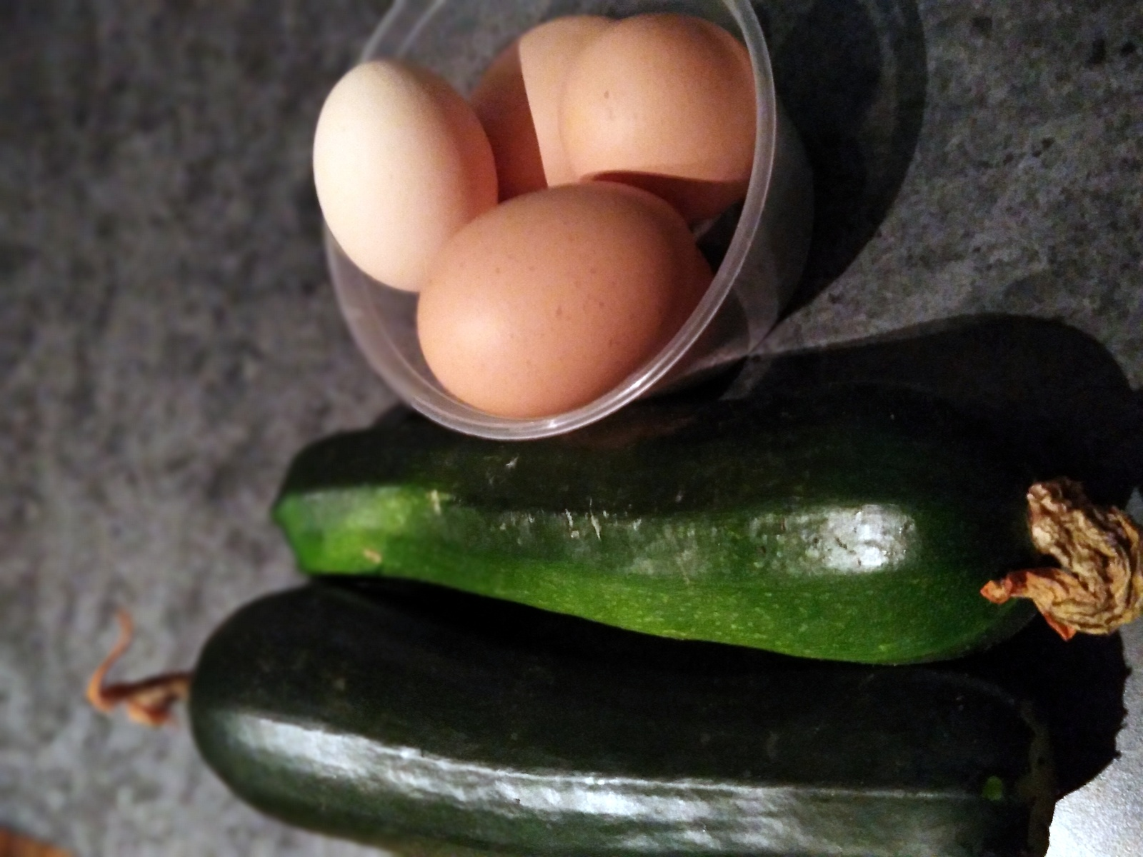 Eggs and zucchini