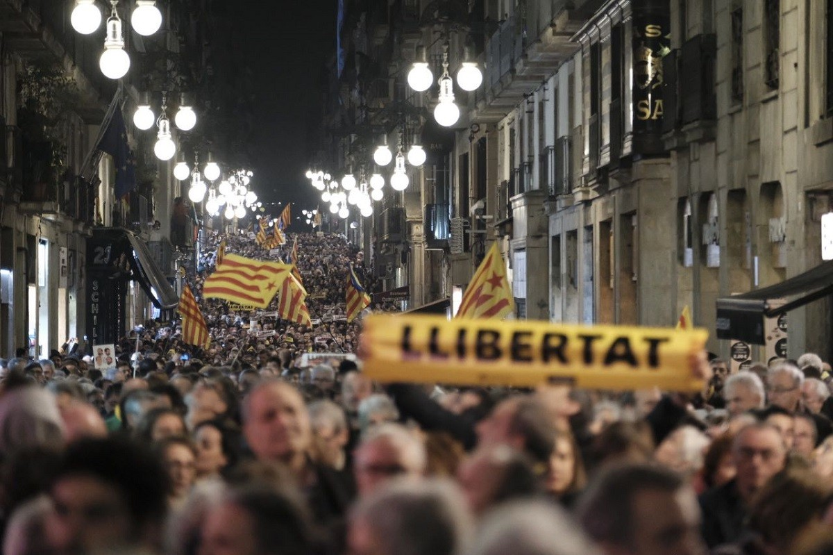 February 16 Barcelona march in support of political prisoners