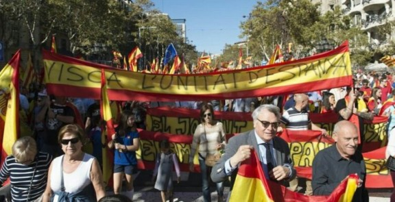 "Catalan Civil Society demonstration, Barcelona, 18-03-18: ""For the Unity of Spain"""