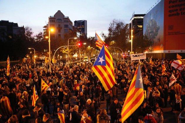 2018-12-21 central Barcelona demonstration of pro-independence left