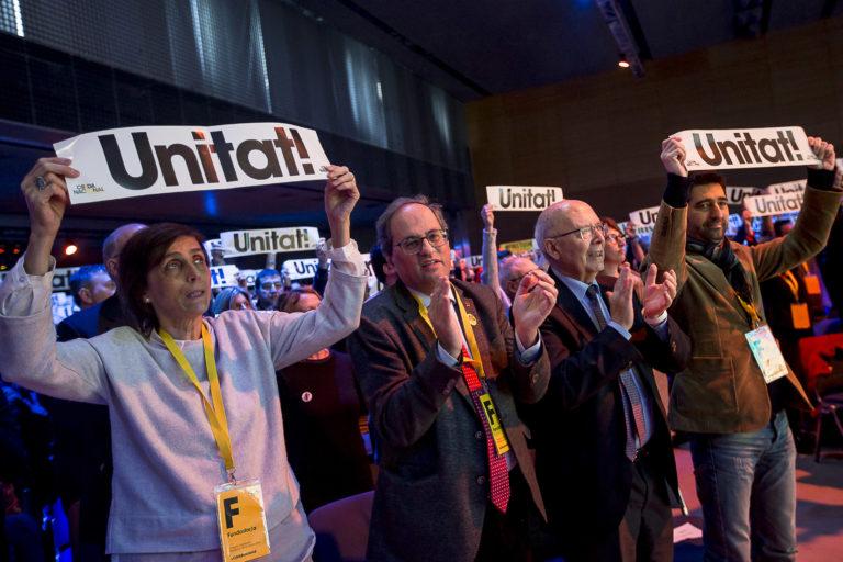 "President Quim Torra at founding congress of the Crida Nacional (""National Call for the Republic"")"