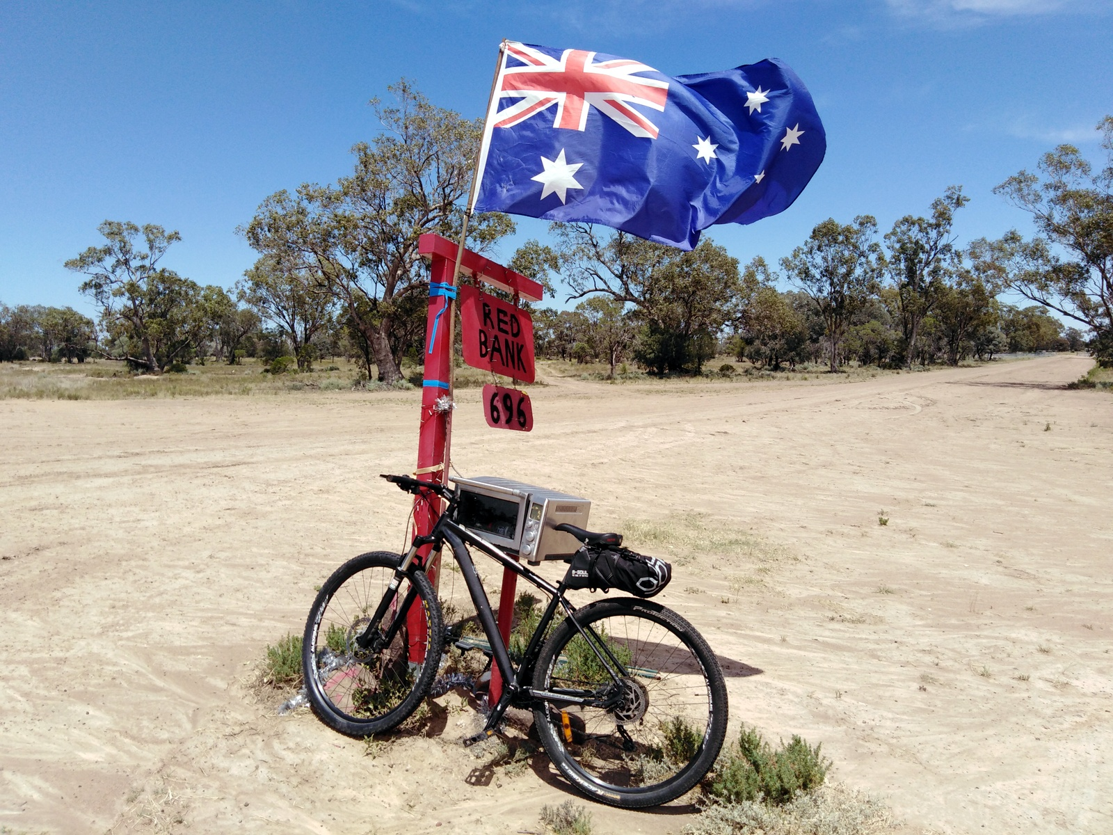 Rural mailbox outside Wee Waa, NSW, Australia