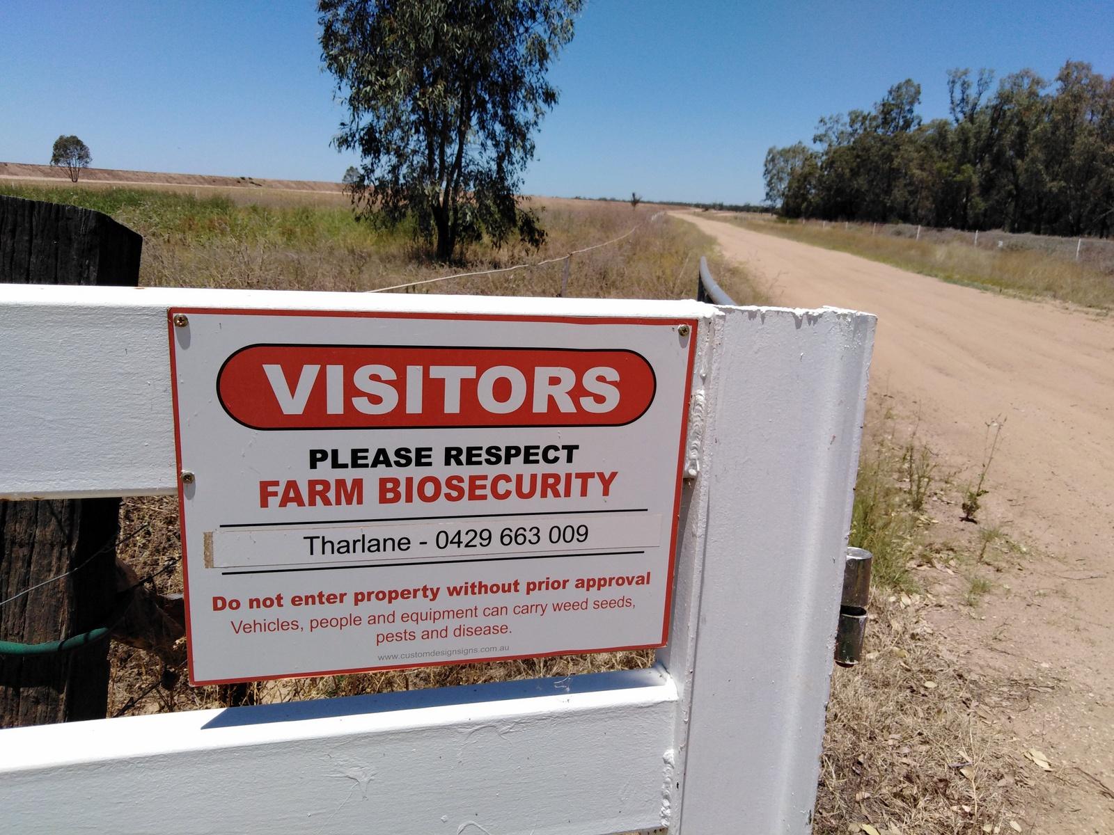 Farm biosecurity, Wee Waa, NSW