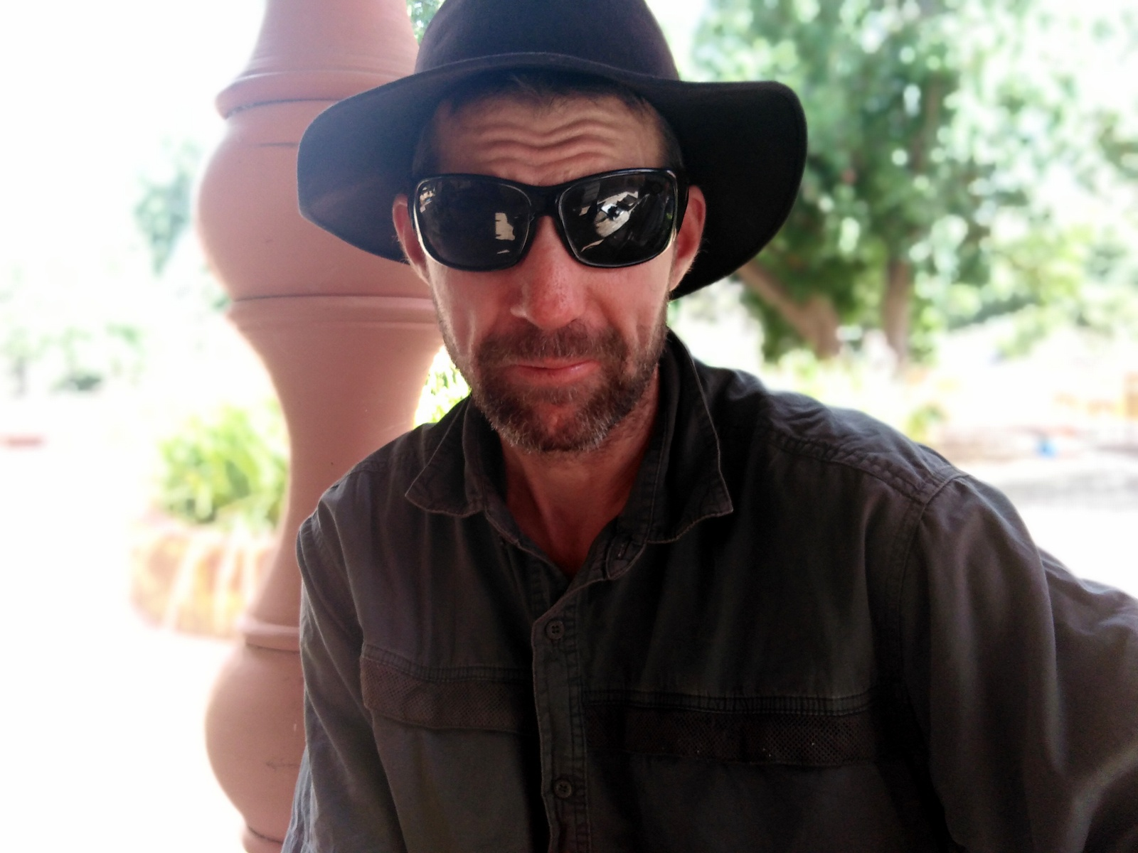Anti-CSG activist and third-generation farmer Brett Hopkinson, formerly known as Brett Sanders