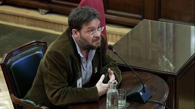 Albano Dante Fachin, former leader of Podemos in Catalonia, testifies