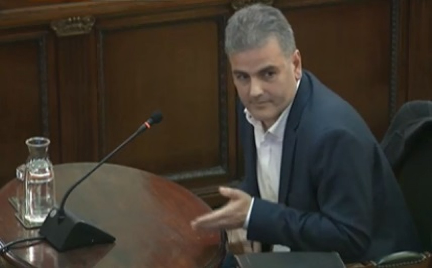 Albert Planas, former production manager of private mail company Unipost, testifies