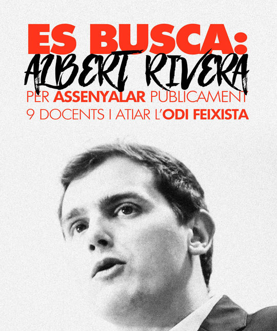 Arra poster against Albert Rivera