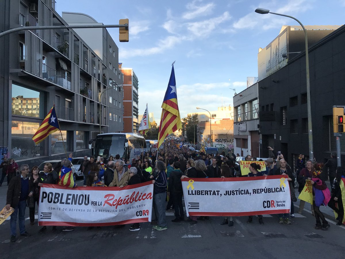 Committee for the Defence of the Republic, Poble Nou, November 1 Barcelona march