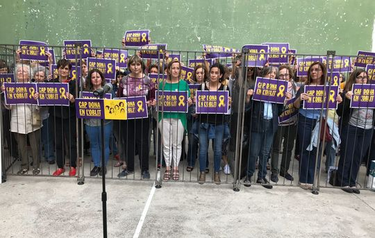 23-05-18 Women's protest in support of exiled and jailed Catalan women politicians and activists