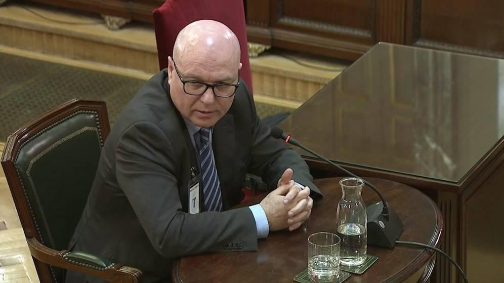 Emili Quevedo, former head of stratgeic planning of the Mossos d'Esquadra, gives evidence