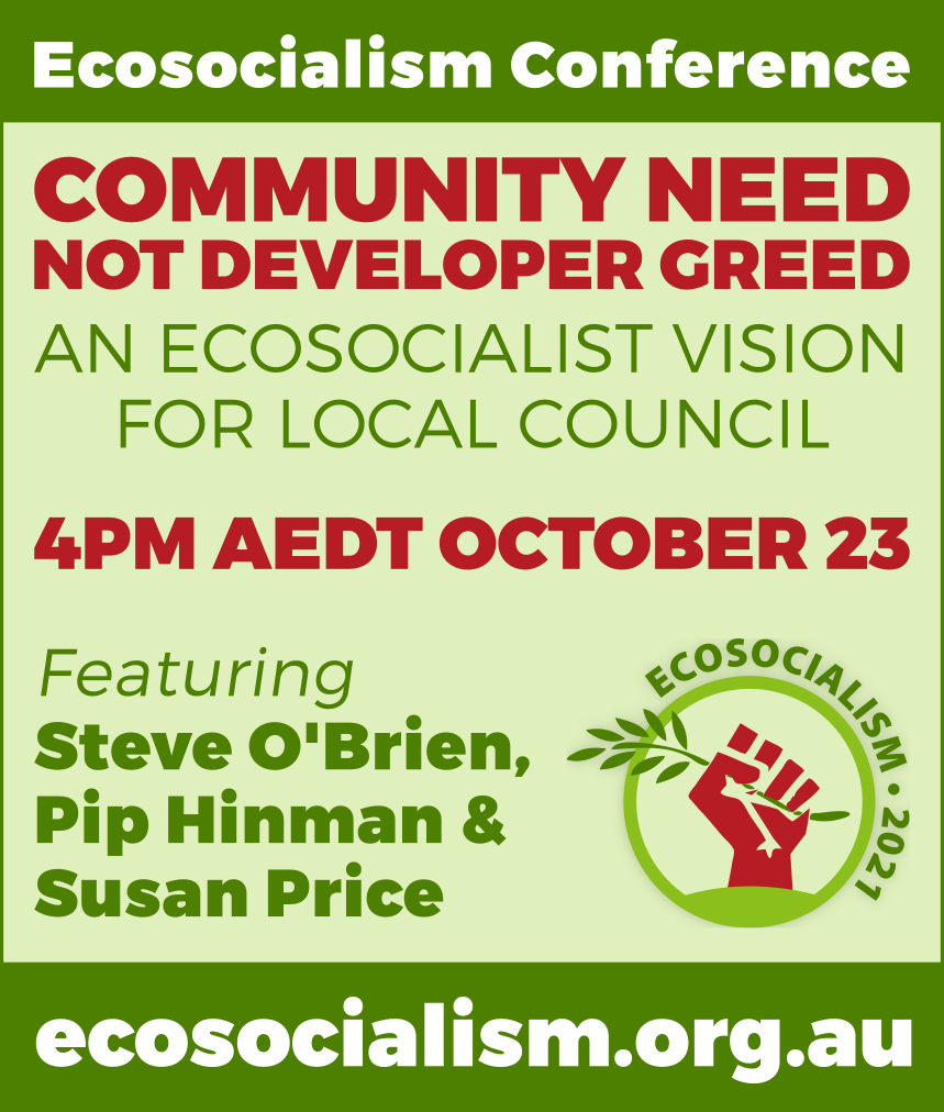 Community need not corporate greed workshop