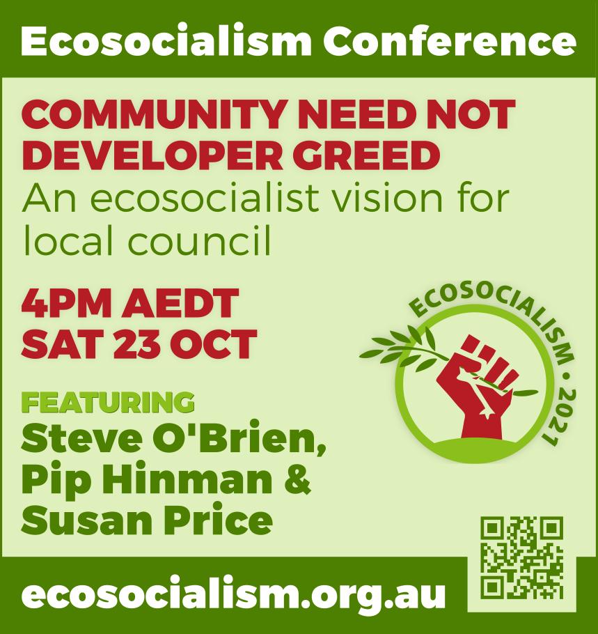 Community need not developer greed workshop, Ecosocialism conference