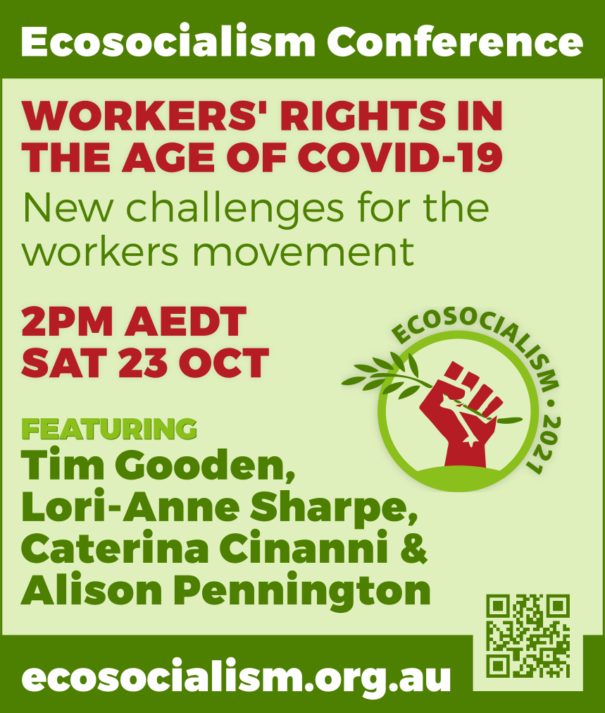 Worker's rights in the age of COVID-19 panel, Ecosocialism conference