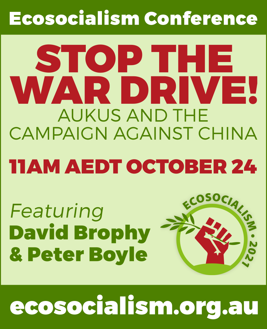 Stop the war drive! Ecosocialism conference panel