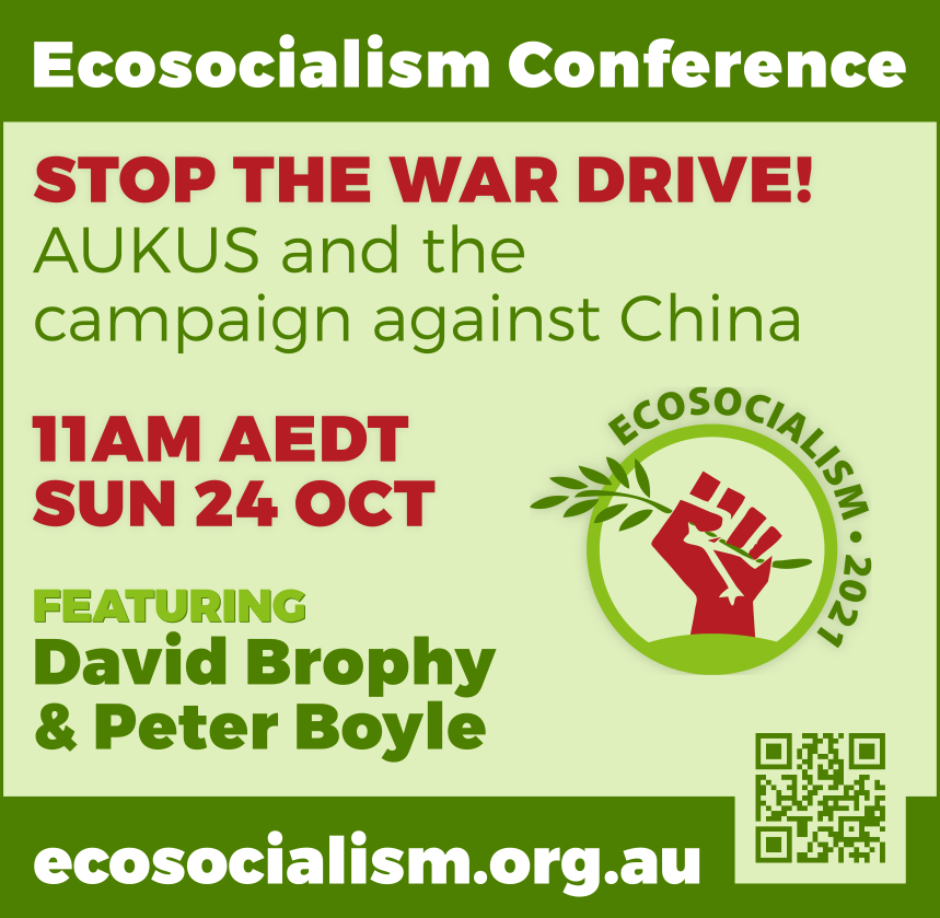 Stop the war drive panel, Ecosocialism conference