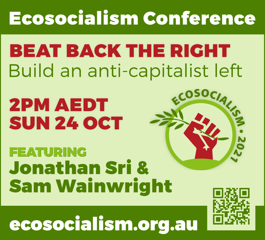 Beat back the right panel, Ecosocialism conference