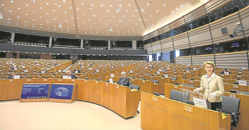 European Parliament session on response of Covid-19 crisis (Credit) Laurie Diffembacq / European Parliament