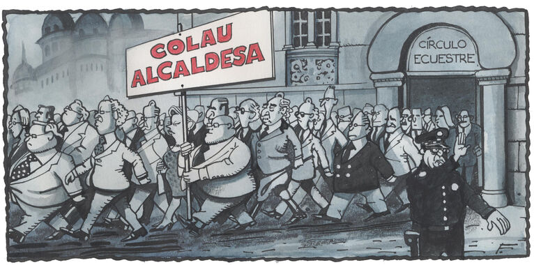 "Catalan rich pouring out of elite Equestian Circle: ""Colau for mayoress"" (Ferreres, Ara)"