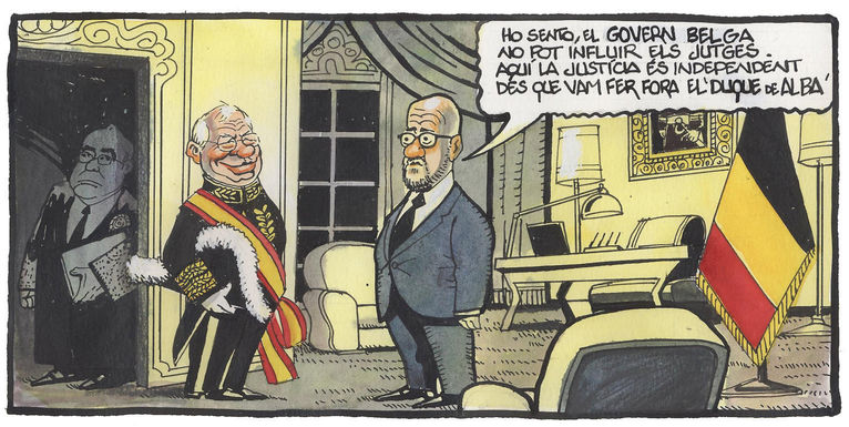 Belgian PM Michel refuses to accept Borrell's request that it provide legal aid for Judge Pablo Llarena, subject of a suit by Catalan exiles Carles Puigdemont and other ex-ministers