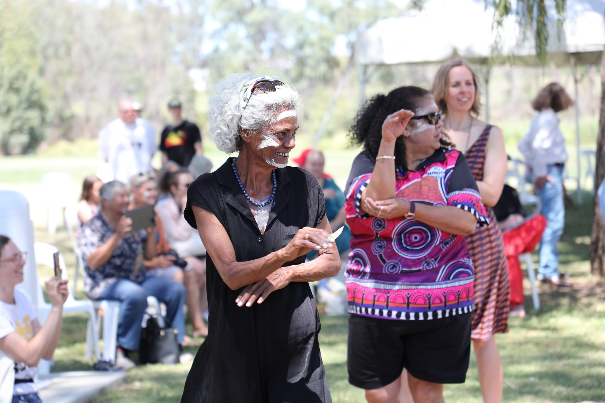 Polly Cutmore at the Gathering For Gomeroi in Narrabri, courtesy of Koori Mail