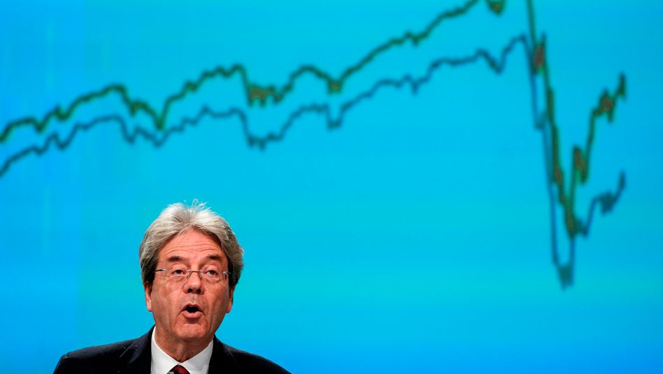 EU Commissioner for Economy Paolo Gentiloni spoke of an unprecedented downturn in Europe (Credit: Kenzo Tribouillard | dpa)