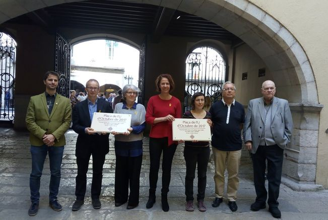 Girona renames Independence Square First of October 2017 Square
