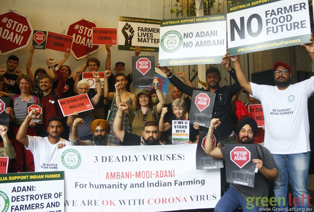 Stop Adani expresses solidarity with Indian farmers