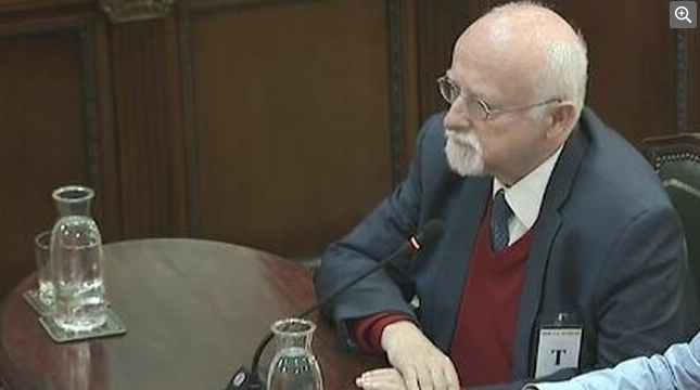 Bernhard von Grünberg, former MP for the German Social Democratic Party, giving evidence