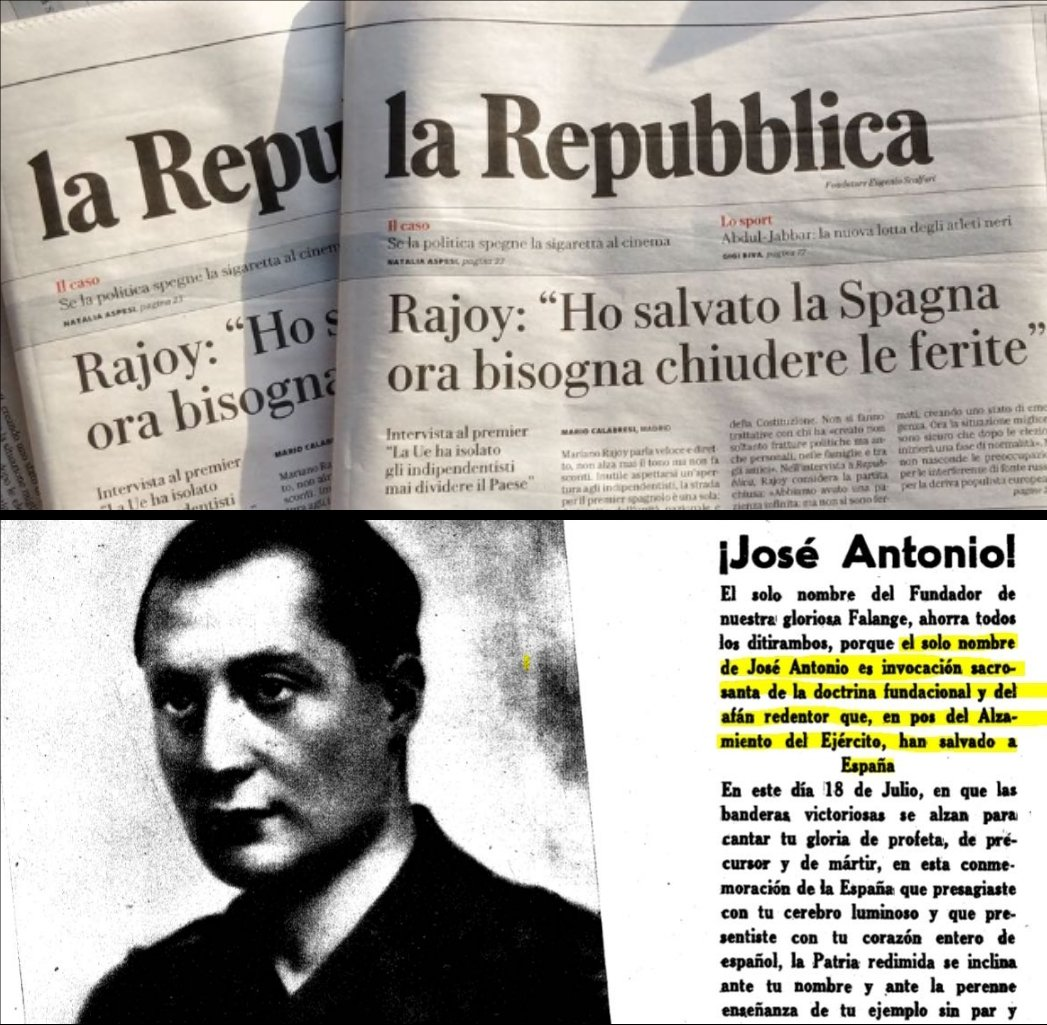 "Mariano Rajoy: ""I have saved Spain"", like José Antonio"