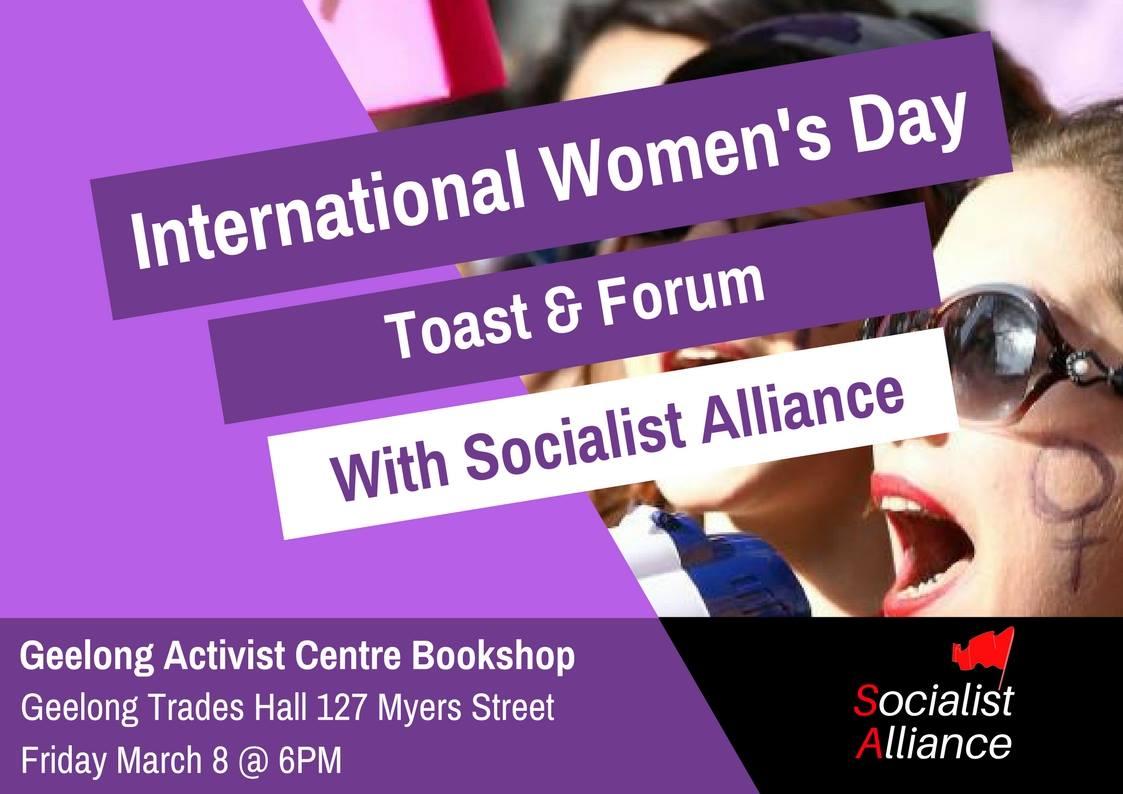 international women's day toast & forum | green left weekly