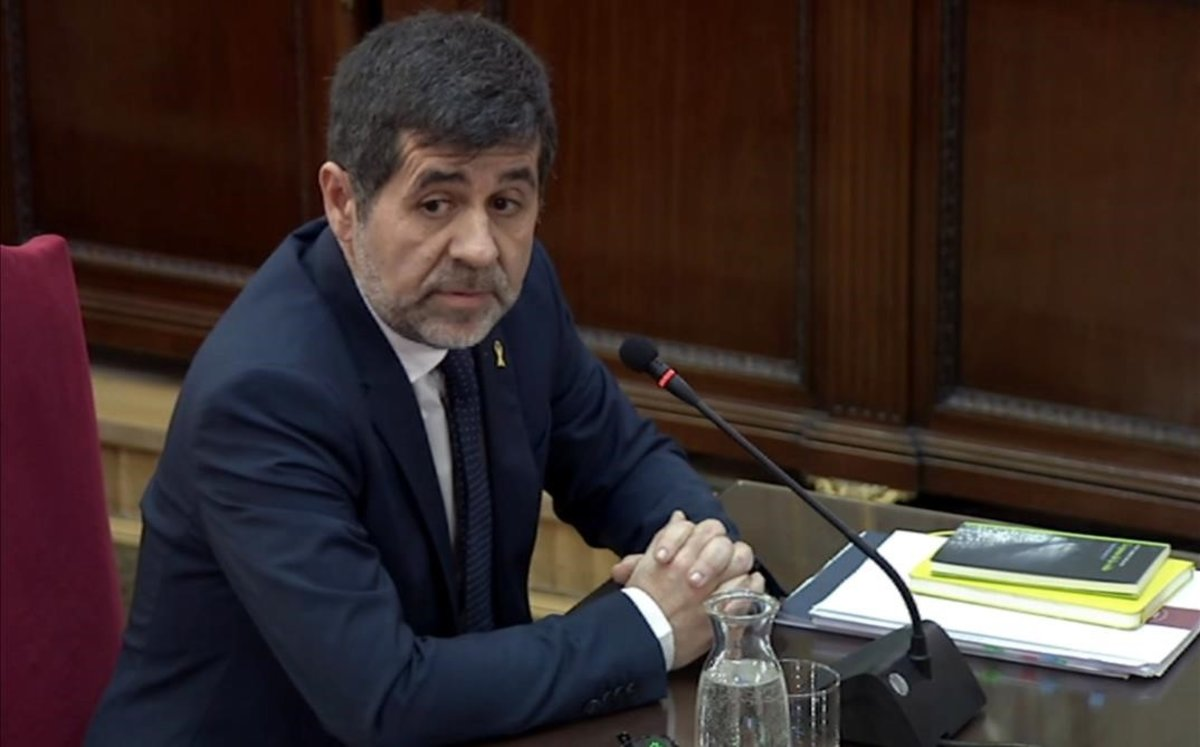 Jordi Sànchez, former president of the Catalan National Assembly and MP for Together for Catalonia (JxCat) testifies