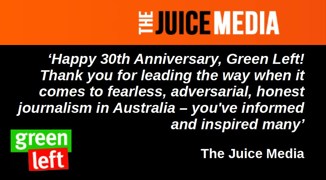 Juice Media supports #GreenLeft30
