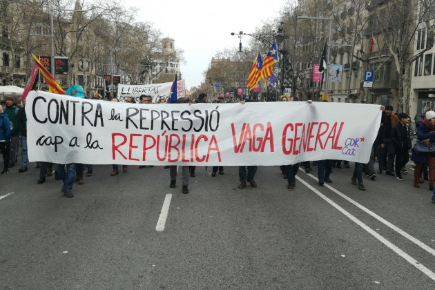 Barcelona, March 25: demonstration in support of Puigdemont's release