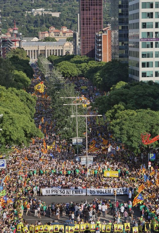 July 14 Barcelona demonstration in support of jailed and exiled Catalan political leaders