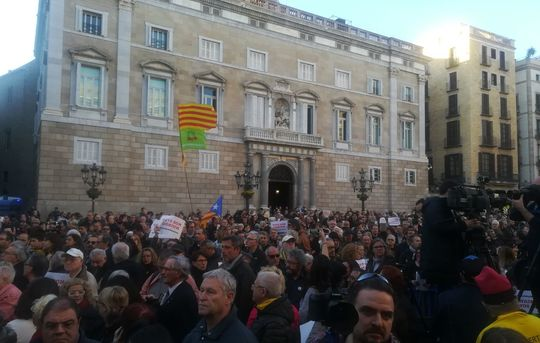 Barclona potest against Civil Guard raids (St James Square, 15-03-18)
