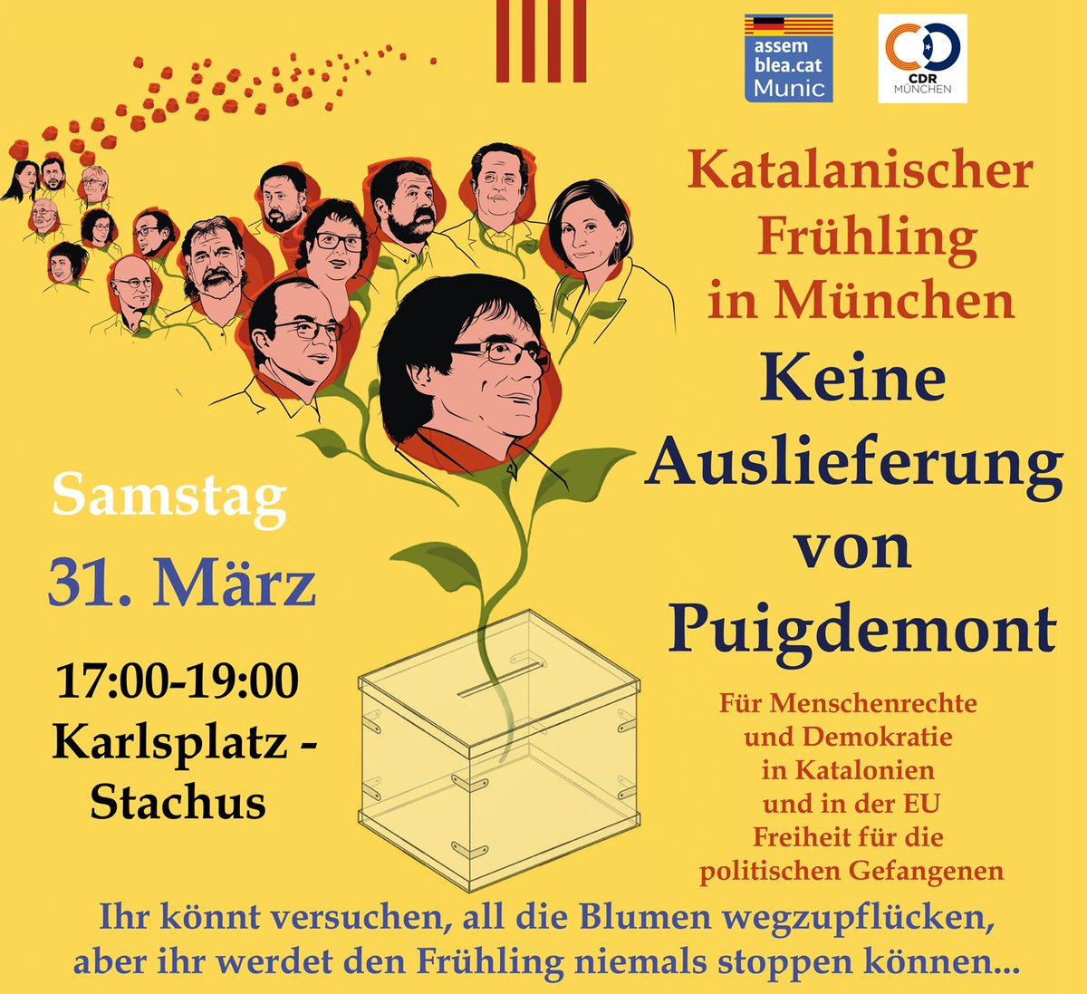 March 31 Munich demonstration against extradition of Puigdemont