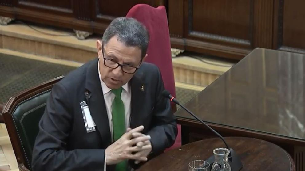 Ángel Gozalo, head of the Civil Guard, giving evidence