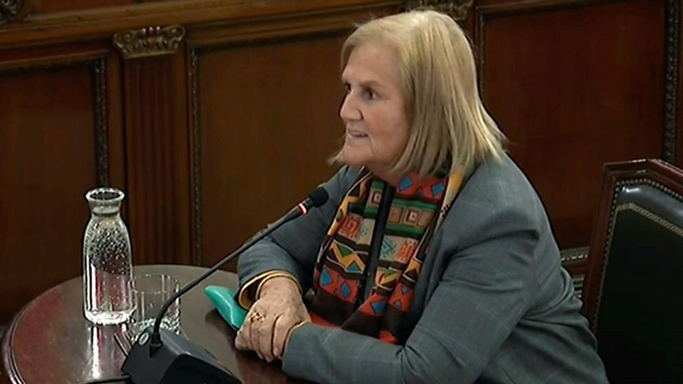 Former Catalan parliament speaker Núria de Gispert testifies