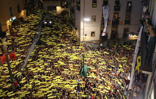 Patum festival (Berga), this year in solidarity with Catalan prisoners and exiles
