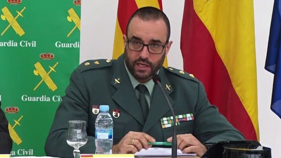 Civil Guard lieutenant-colonel Daniel Baena, head of legal police in Catalonia, who now claims he is not anti-Catalanist troll 'Tácito'