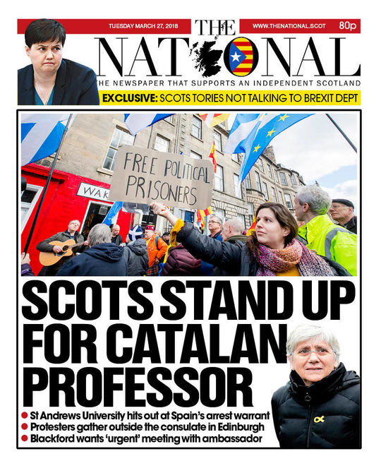 Today's issue of The National (Scotland)