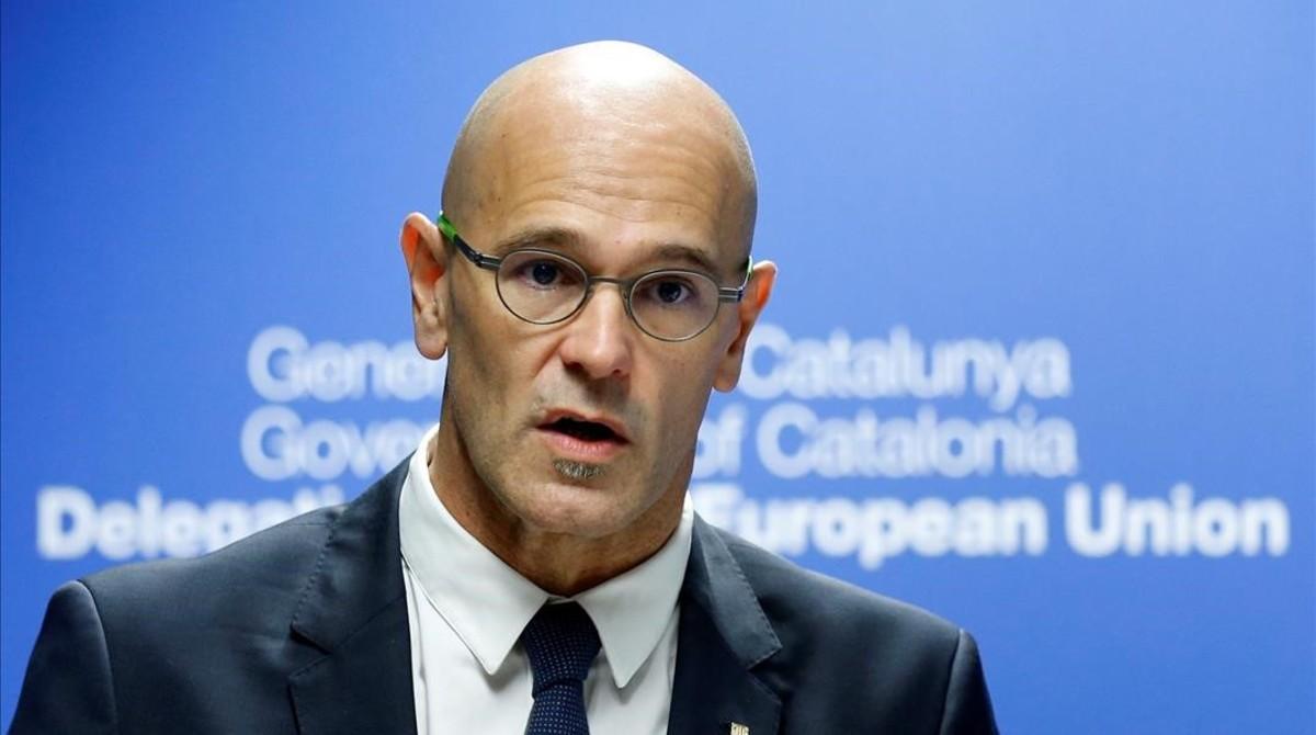 Impriosoned Catalan foreign minister Raül Romeva