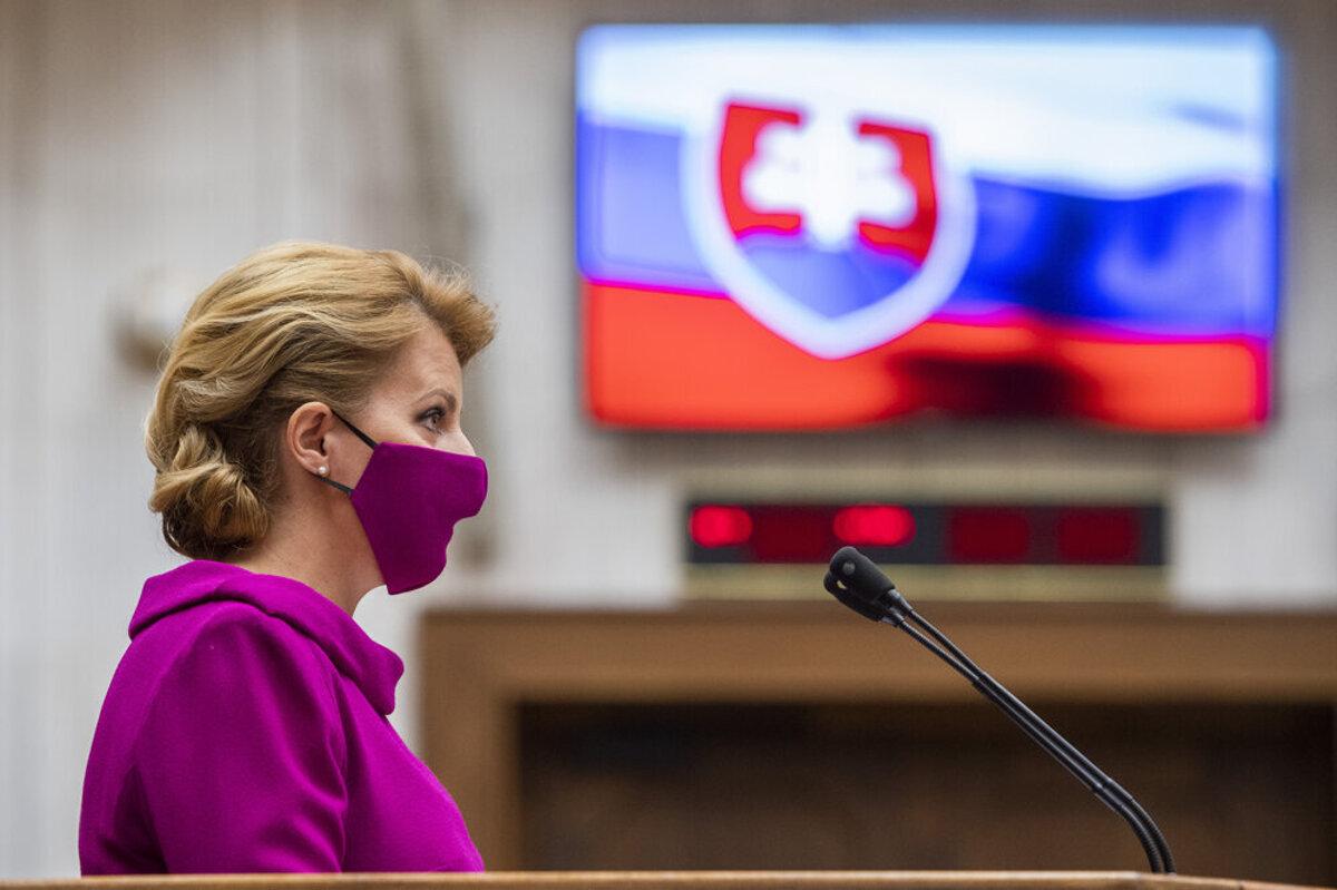 President Zuzana Čaputová delivers her first-ever state of the republic address in the Slovak parliament  (Source: Sme - Jozef Jakubco   Slovak Spectator)