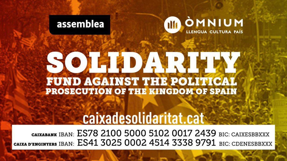 ANC, Òmnium Cultural solidarity fund