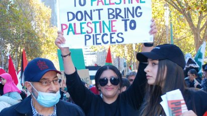 Bring peace to Palestine, Melbourne.