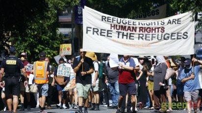 Brisbane march. Photo: Alex Bainbridge