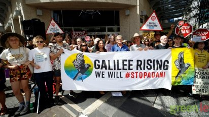 Galilee Rising protest, Brisbane, November 13. Photo: Alex Bainbridge