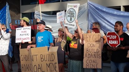 Protest at GHD's shareholders meeting in Perth on November 13.